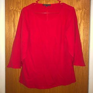 Preston & York size S blouse in bright red